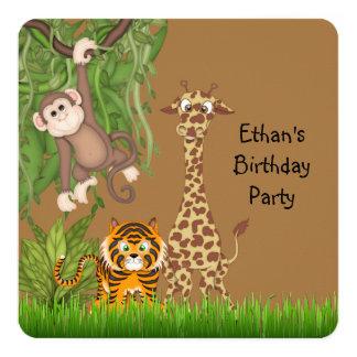 Safari Birthday Party Card