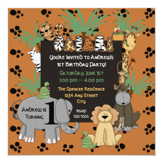 Safari Birthday Party Invitation