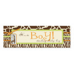 Safari Boy Green Skinny Gift Tag Pack Of Skinny Business Cards