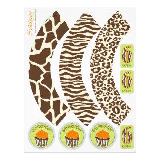 Safari Boy OR Cupcake Wrapper 6 21.5 Cm X 28 Cm Flyer
