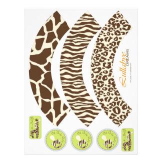 Safari Boy Orange Cupcake Wrappers Full Color Flyer