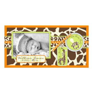 Safari Boy Orange Photo Card