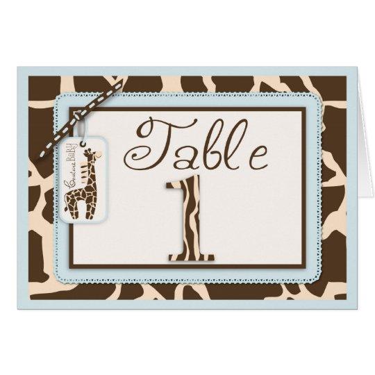 Safari Boy Table Card 1