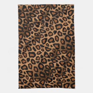 Safari Brown Leopard Animal Print Tea Towel