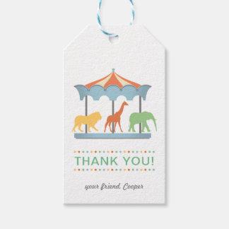 Safari Carousel Birthday Favor Hang Tag