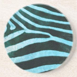 Safari Collection Turquoise Zebra Coaster