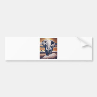 Safari Elephant Bumper Sticker