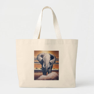 Safari Elephant Large Tote Bag