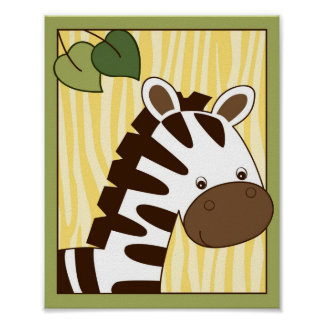 Safari Friends Jungle Animal Wall Art Print