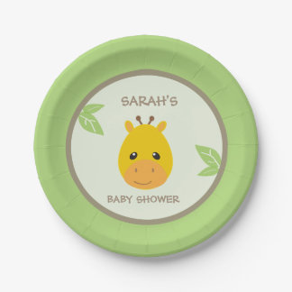 Safari Giraffe Baby Shower Plates