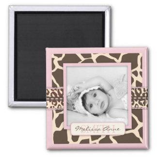 Safari Girl Photo Magnet