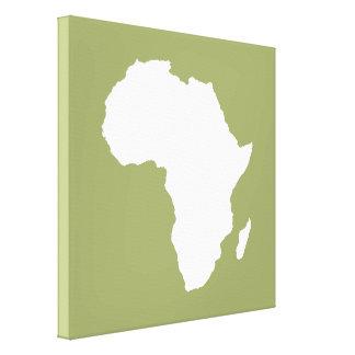 Safari Green Audacious Africa Canvas Print