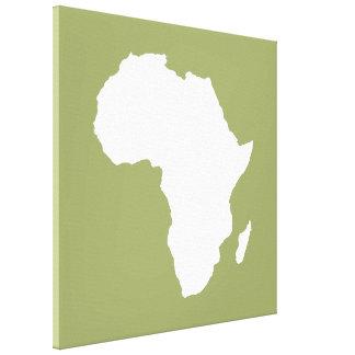 Safari Green Audacious Africa Stretched Canvas Prints