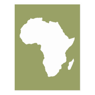 Safari Green Audacious Africa Postcard