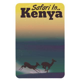 Safari in Kenya vacation poster Magnet