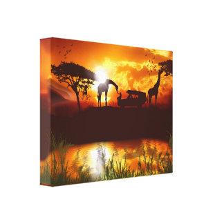 Safari in the Jungle Canvas Canvas Print