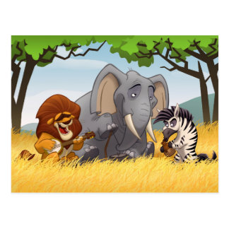 Safari Jug Band Postcard