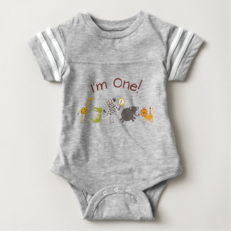 Safari Jungle Animal Birthday Outfit Bodysuit