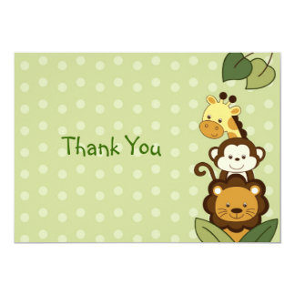 Safari Jungle Animal Flat Thank You Note Cards 13 Cm X 18 Cm Invitation Card