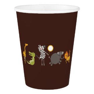 Safari jungle animal party paper cups