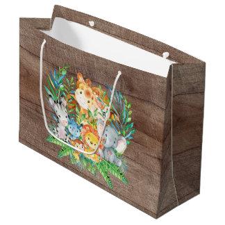 safari Jungle Animals Baby Shower Gift Bag