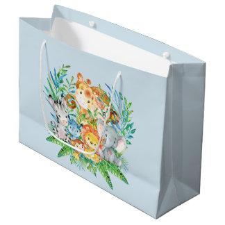 safari Jungle Animals Boys Baby Shower Gift Bag