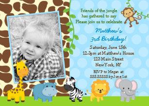 animal birthday invitations zazzle uk