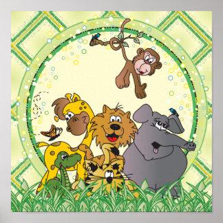 Safari Jungle Animals Poster