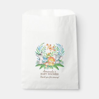 Safari Jungle Baby Shower Favor Bags