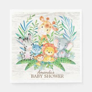 Safari Jungle Baby Shower Paper Napkins Paper Napkin