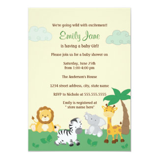 Safari Jungle Gender Neutral Baby Shower Invite