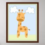 Safari Jungle Giraffe Wall Art Poster/Print Poster