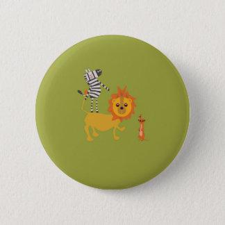 Safari Jungle Party Favor Animal Button Pin