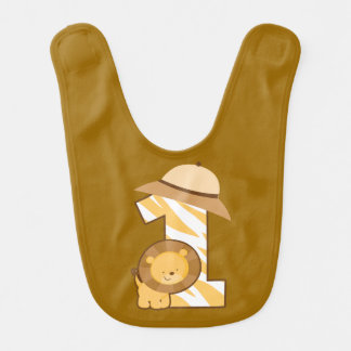 Safari Lion 1st Birthday Bib