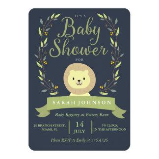 Safari Lion Baby Shower Invitation