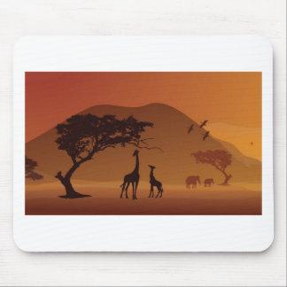 Safari park mouse pad