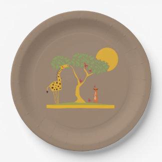 Safari party jungle themed savannah paper plates