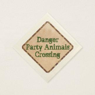 Safari Party Napkins Danger Disposable Serviette
