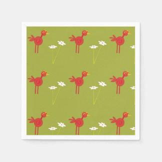 Safari party themed red bird napkins disposable napkin