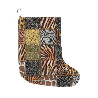 Safari patchwork Christmas Stocking