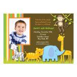 Safari Photo Birthday Invitations