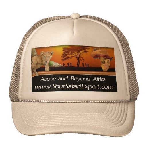 Safari scene Hat with Africa & Lion Cub