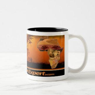Safari scene Mug with Africa & Lion Cub (Mirror)