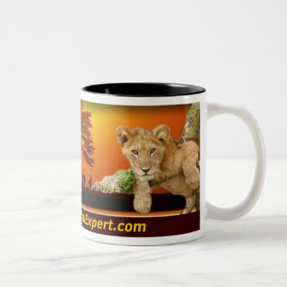 Safari scene Mug with Lion Cub & African Continent