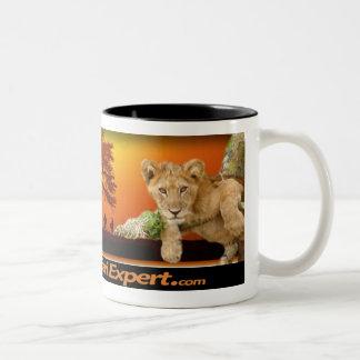 Safari scene Mug with Lion Cub & African Continent