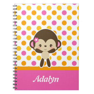 Safari Sweetness Monkey Spiral Notebook