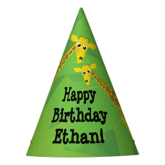 Safari theme birthday- giraffes party hat