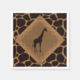 Safari Theme Giraffe Disposable Serviettes