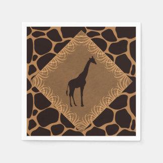 Safari Theme Giraffe Paper Napkin