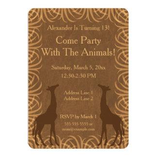 Safari Theme Invitation